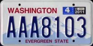 Washington License Plate Lookup