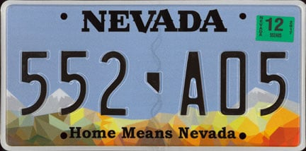 Sample California License Plate