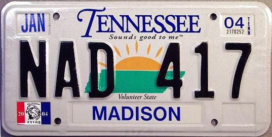 Tennessee Free License Plate Lookup