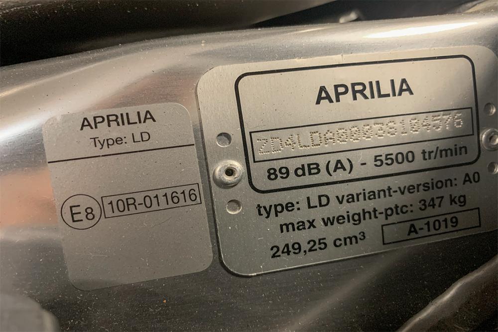 Aprilia VIN Check